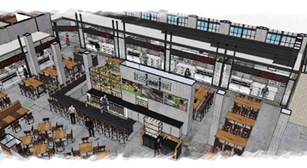 Budd Dairy Food Hall inside rendering